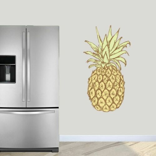 Pineapple Printed Wall Decal Entryway Welcome Tropical Kitchen Dining