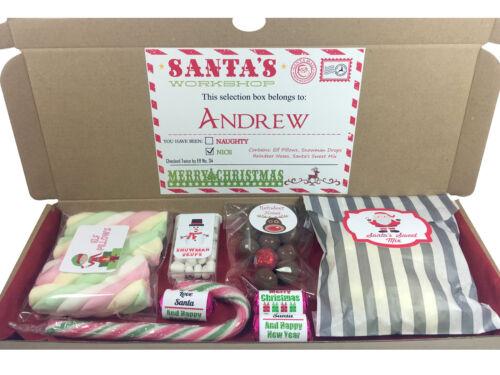 Personnalisé Noël sélection boîte cadeau renne Nez ELF Oreillers Bonbons