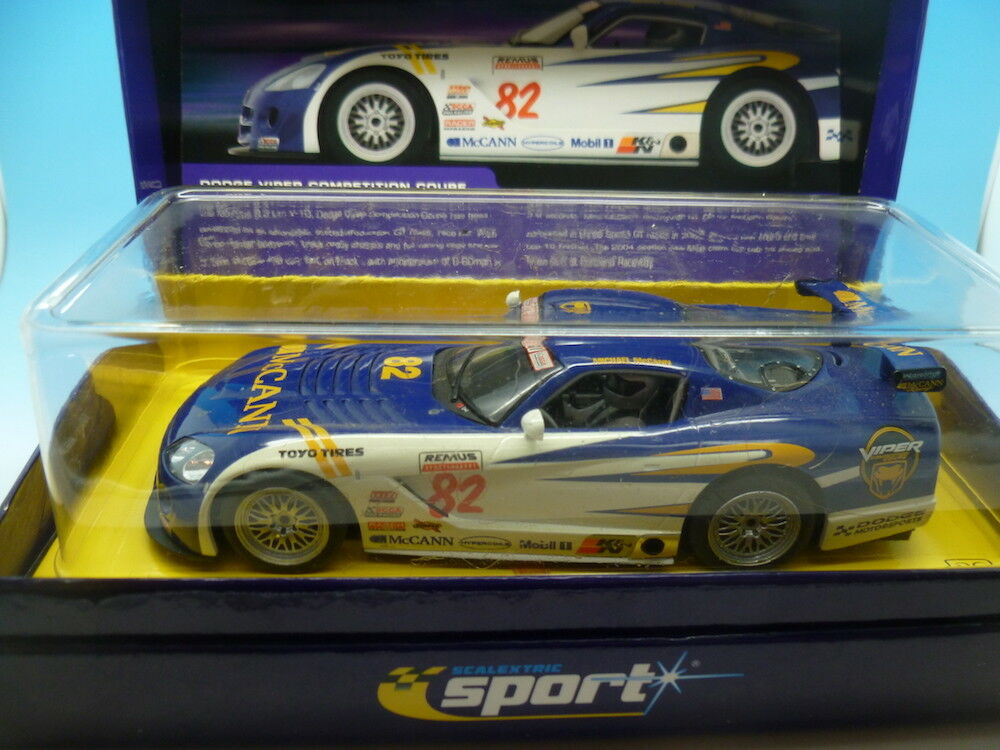 Scalextric C2523A Dodge Viper Competition Coupe McCann No82, used car but in gre