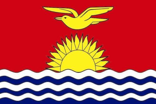 Fahne Flagge Kiribati 20 x 30 cm Bootsflagge Premiumqualität