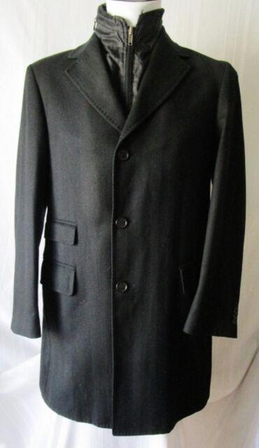 ***FACIS CAPPOTTO Coat TG.50R LANA, GILET INTERNO, Colore NERO Cod. AS