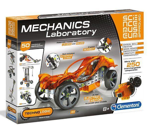 Clementoni MECHANICS LABORATORY 250 parts 50 Builds SCIENCE MUSEUM Approved