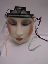 Rare San Francisco About Face Clay Art Line Wall Lady Face Mask Deco Elegant