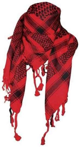 PLO Schwarz 110x110cm PLO056 Tuch Palästinensertuch Rot