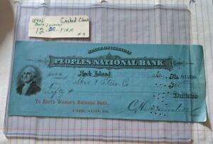 People's National Bank Rock Island IL cashed check 1893 North Western Bank