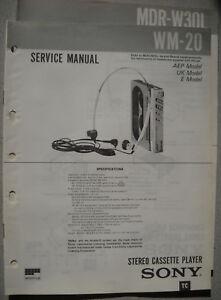 SONY-WM-20-und-MDR-W30L-Service-Manual