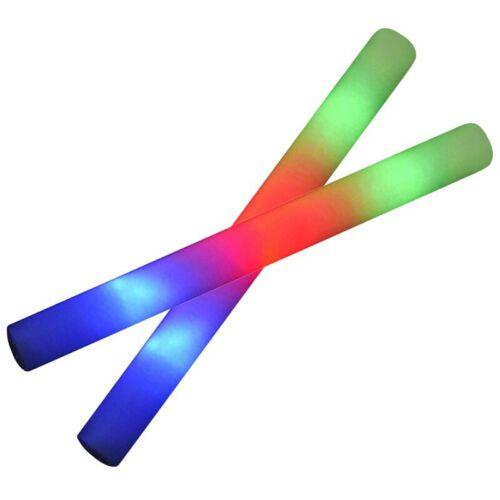 XTC LED PARTY STICK 48cm LEUCHTSTAB SCHAUMSTOFF GLOWSTICK PARTYSTAB BLINKSTAB