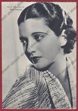 KAY FRANCIS 05 ATTRICE ACTRESS CINEMA MOVIE USA Cartolina NON FOTOGRAFICA 1938