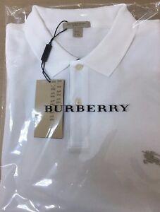 Details about Burberry Brit Men s Check Placket Polo Shirt White 27a64166ce2e