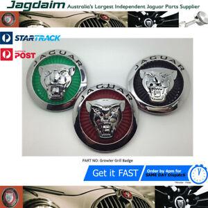 New-Jaguar-XJ-XF-XK-X-Type-85mm-Green-Growler-Front-Grille-Emblem-Badge-Roundel