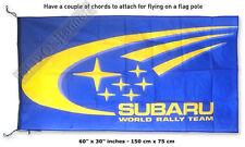 Big NEW SUBARU RALLY Blue wrc FLAG BANNER 30x60 inches impreza wrx xv forester