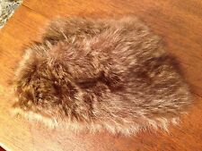 Handmade Real Undyed COYOTE Fur Rustic Winter Hat Women's S or Small ~ Beautiful