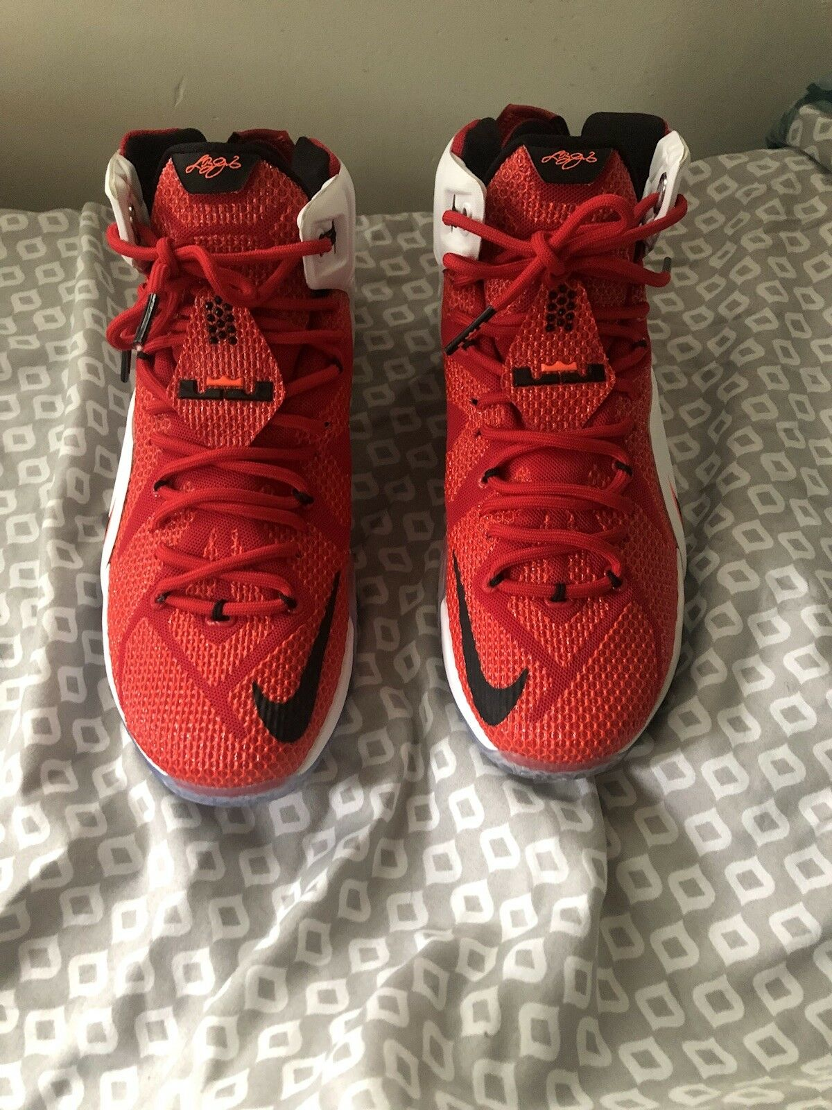 "f3dfb291310 Nike 12 ""heart of a lion"" red white XII lebron nflhtv2811-Athletic ..."