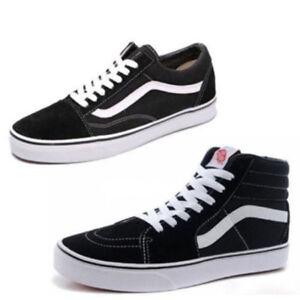 VAN-Classic-OLD-SKOOL-Low-High-Top-Suede-Casual-Canvas-sneakers-SK8-MENS-Shoes