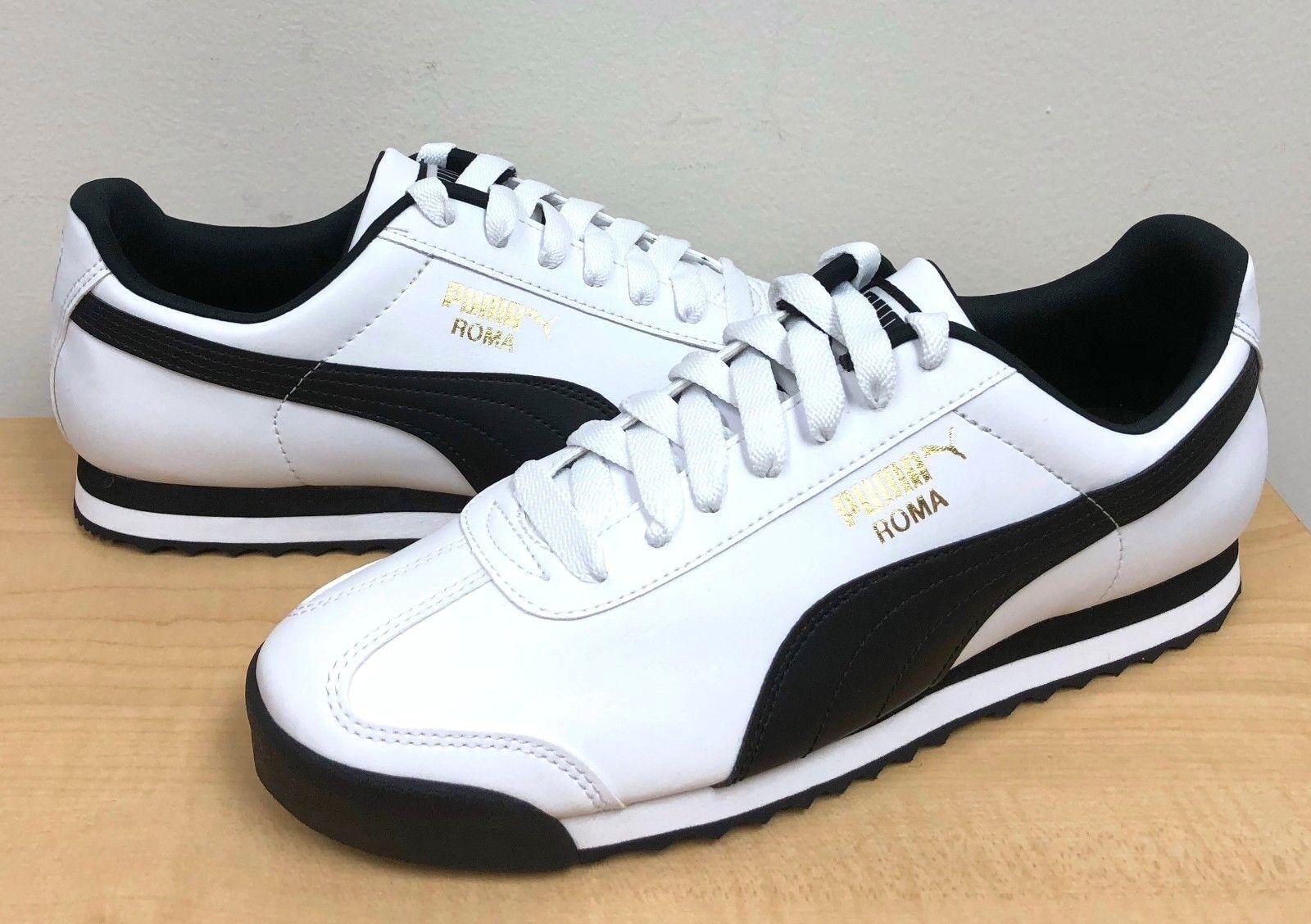 2b83e7a97db55 PUMA MEN ROMA BASIC 04 White-Black 353572 nuqbaq4243-Athletic Shoes ...