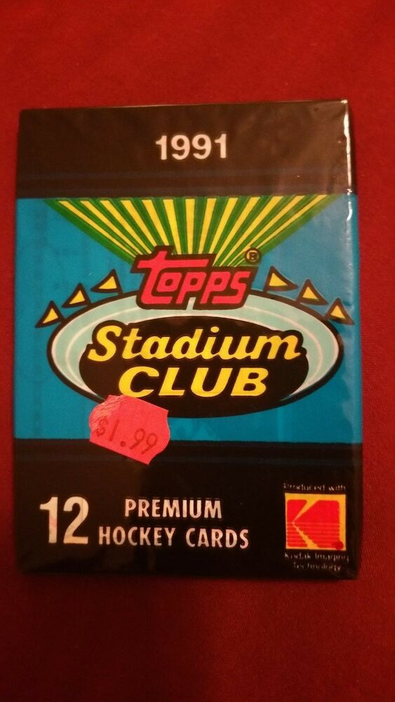 Original Hockey Card Pack 1991 Topps Stadium Club Unopened Pack Mint