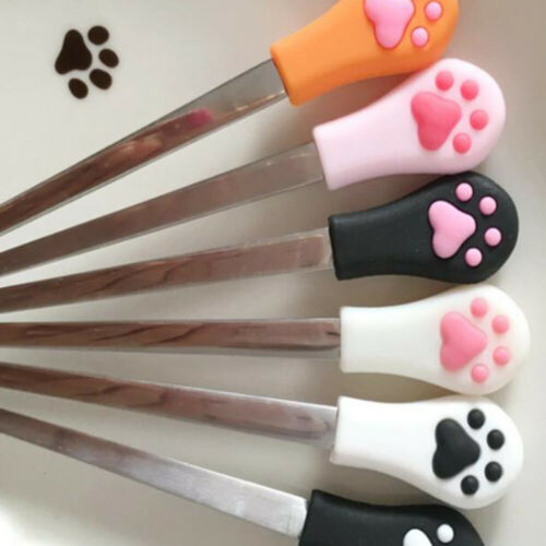 6 Pcs Coffee Spoons Silicone Head Cat Claw Cake Spoons Sugar Spoons for Kitchen