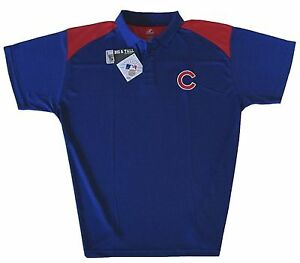 Chicago Cubs Majestic Mlb Mens Golf Polo Shirt Big Tall