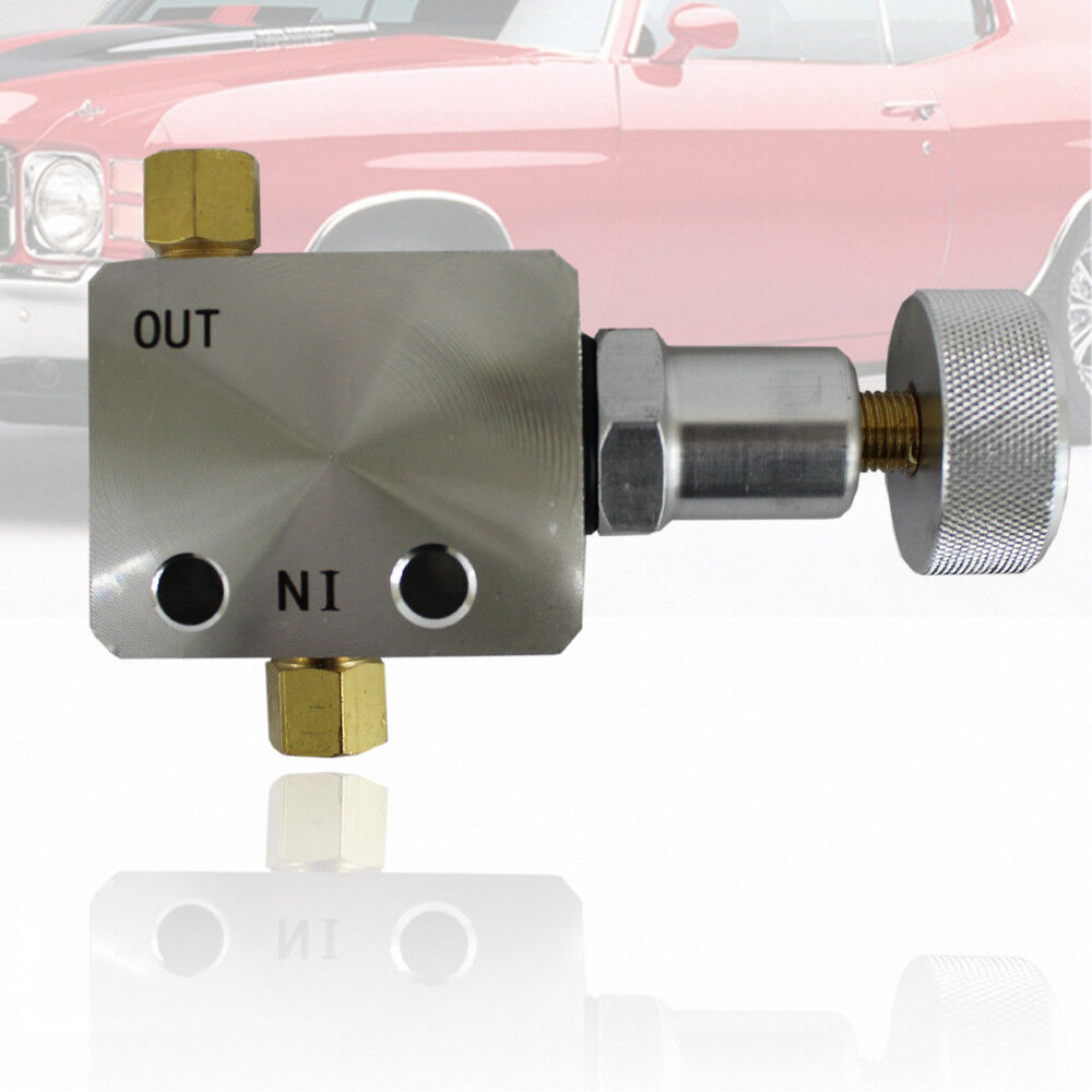Universal Adjustable In Line Brake Proportioning Valve With Knob Fittings