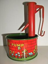VINTAGE CHAD VALLEY Ye Old Village Pump LITHO TINPLATE  WISHING WELL TOY -  RARE
