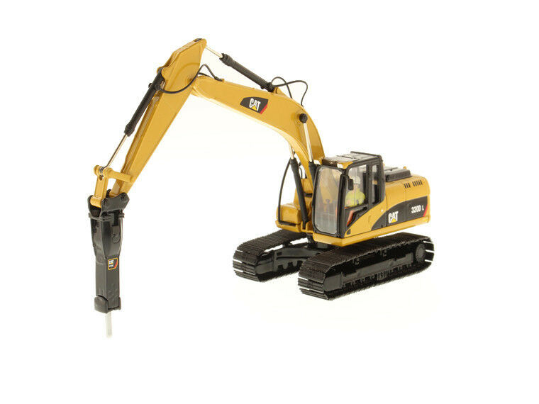 1/50 Caterpillar 320D L Excavadora Hidráulica de juguetes clásicos 85280 con núcleo de martillo