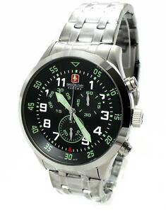 SWISS-MILITARY-HANOWA-06-5263-04-007-06-CHRONOGRAPH-Edelstahl-Swiss-made-WOW-NEU