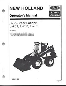 Details about New Holland L781 L783 L785 Skid Loader Operator's Manual on