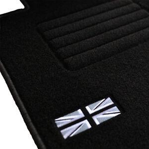 4-TAPIS-SOL-MINI-COUNTRYMAN-R60-COOPER-S-D-SD-MOQUETTE-LOGO-FLAG-UK-SPECIFIQUE