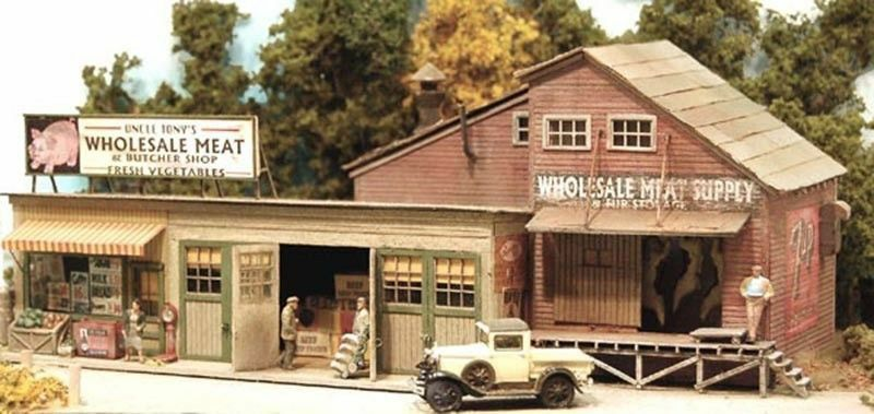 BAR MILLS costruzioneS 112 HO Scale Four Fingerosso Tony's Meats Wood Kit gratuito SHIP