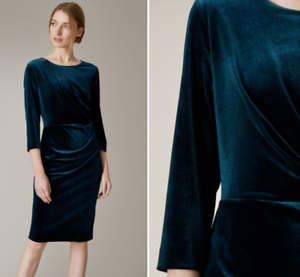 Jaeger-Blue-Luxurious-Velvet-Stretch-Bodycon-Cocktail-Shift-Party-Dress-6-to-18