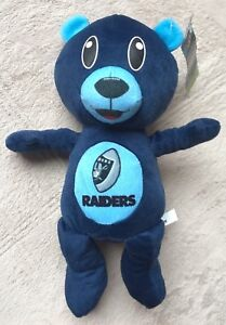 Los-Angeles-Raiders-Football-Team-Rush-Zone-Blue-Stuffed-Teddy-Bear-Nickelodeon