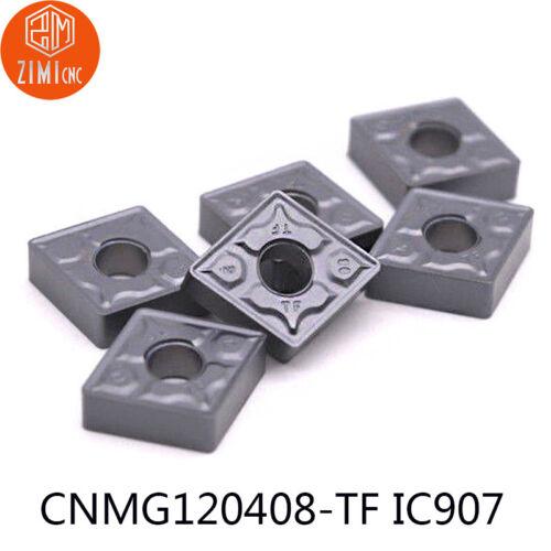 10PCS CNMG432-TF CNMG120408 TF IC907 Carbide Inserts Lathe turning inserts