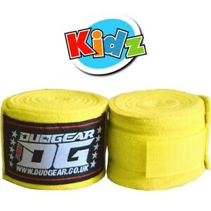 KIDS-YOUTH-JUNIOR-YELLOW-PAIR-OF-WRAPS-FOR-MUAY-THAI-TRAINING-AND-FIGHTING-1-5m