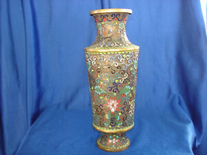 Antique-Chinese-Cloisonne-Vase