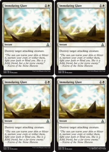 4x IMMOLATING GLARE Oath of the Gatewatch MTG White Instant Unc