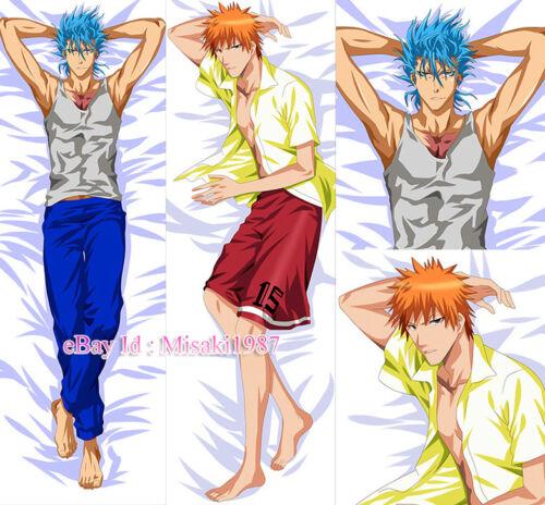 Bleach Dakimakura Grimmjow Ichigo Kurosaki Anime Hugging Body Pillow Case