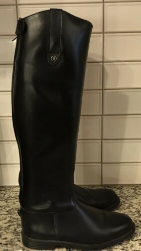 Rectiligne Black Equestrian Riding Boots Size 39