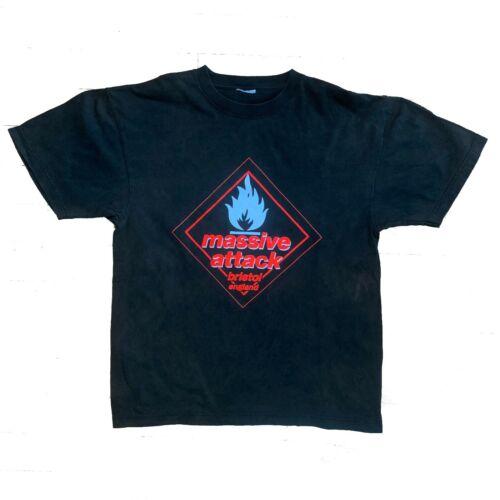 Vintage 90s Massive Attack Black Tour T-Shirt
