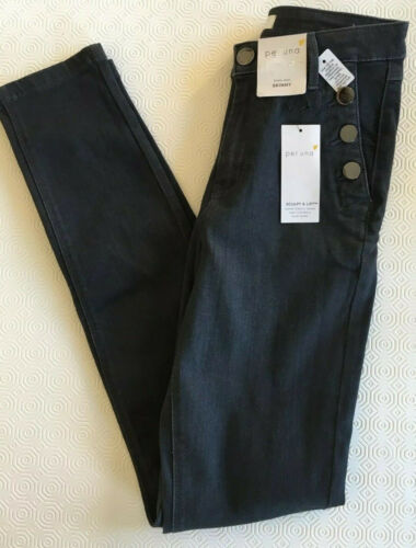 bnwt MARKS /& SPENCER PER UNA JEANS UK 8 LONG SCULPT /& LIFT GREY SKINNY FIT ROMA