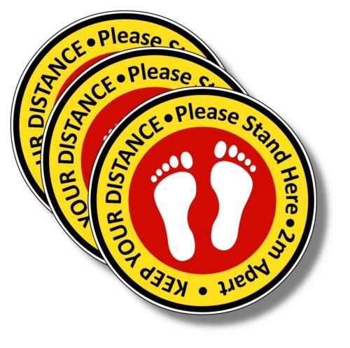 """Stickers NHS FLOOR STICKERS 8/"""" 200mm SHOPS -Social Distancing Floor Decals"""
