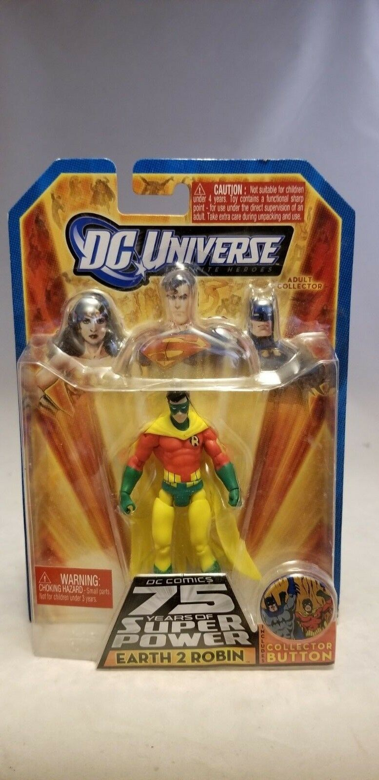 DC UNIVERSE INFINITE HEROES HEROES HEROES 75 YEARS 3.75  EARTH 2 ROBIN FIGURE e656aa