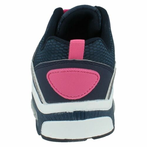 Air Tech Legacy Ladies Navy//Pink Lace Up Textile//Synthetic Trainers