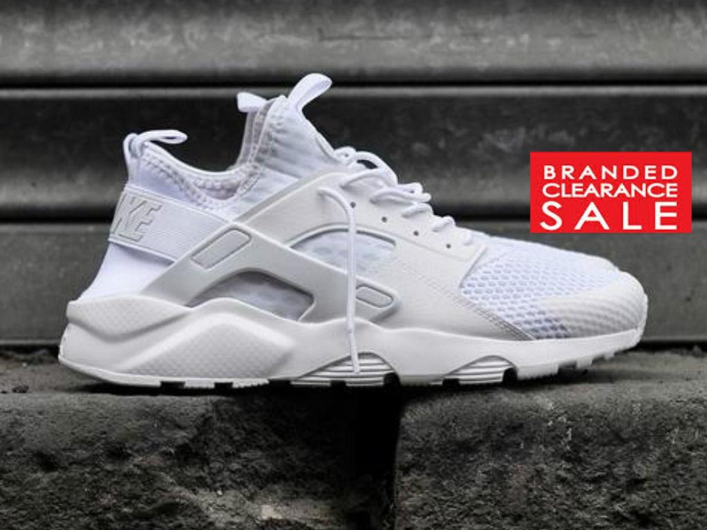 Nuevo Y Y Y En Caja Nuevo Hombre Nike Air Huarache Run Ultra Br Entrenador Triple Negro blancoo 9 10 11uk f07686