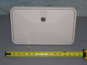 RV-Marine-Camper-White-Exterior-Shower-Box-Kit-Outside-Faucet-Wall-Wash-Station