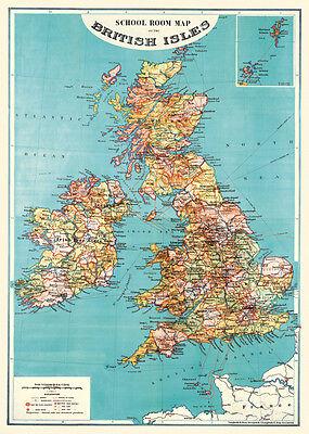 Cavallini British Isle Map Flat Wrap
