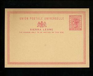 Postal Stationery H&G #1 Sierra Leone postal card 1881/1883 Vintage
