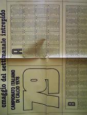 Poster Calendario campionato di Calcio Serie A e B 1978-79  [G.249]
