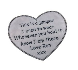 1-x-Keepsake-Memory-Love-Heart-Personalised-Text-Sew-039-n-039-Iron-On-Patch-Motif
