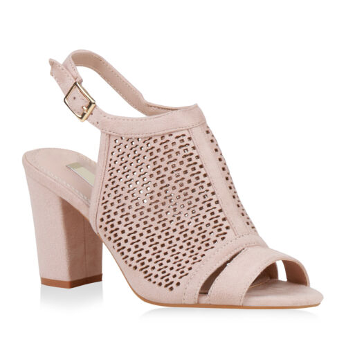 Damen Sandaletten Schaftsandaletten Blockabsatz Schaftsandalen 832726 Schuhe