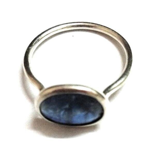 Kyanite Natural Gemstone Handmade 925 Sterling Silver Ring Size 7